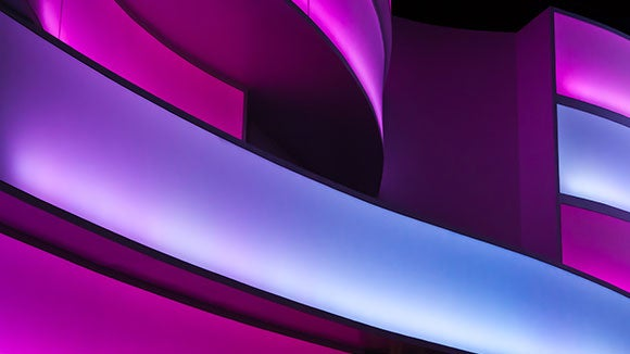purple and pink architect detail